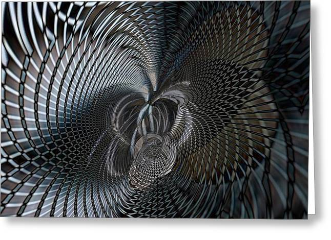 Metal Dimensions 1 Greeting Card by Philip Openshaw