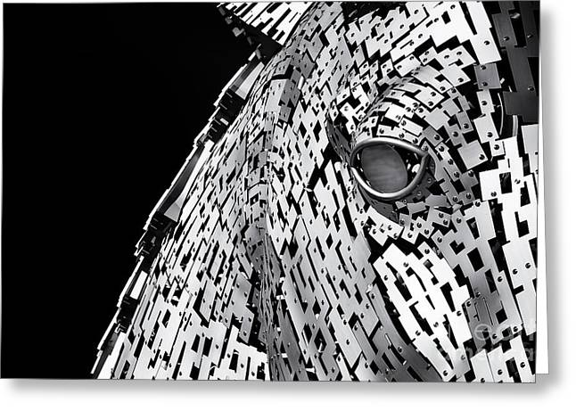 Metal Horse Abstract Greeting Card by Tim Gainey