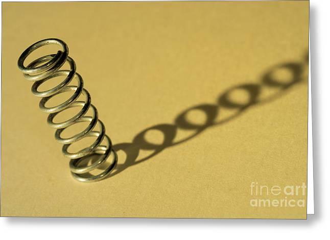 Flexibility Greeting Cards - Metal spring Greeting Card by Sami Sarkis