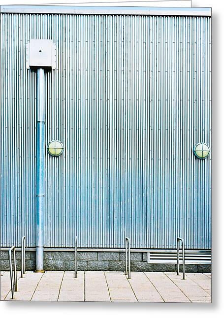 Drain Greeting Cards - Metal wall Greeting Card by Tom Gowanlock