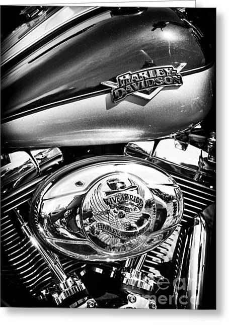 V Twin Greeting Cards - Metalflake Harley Greeting Card by Tim Gainey