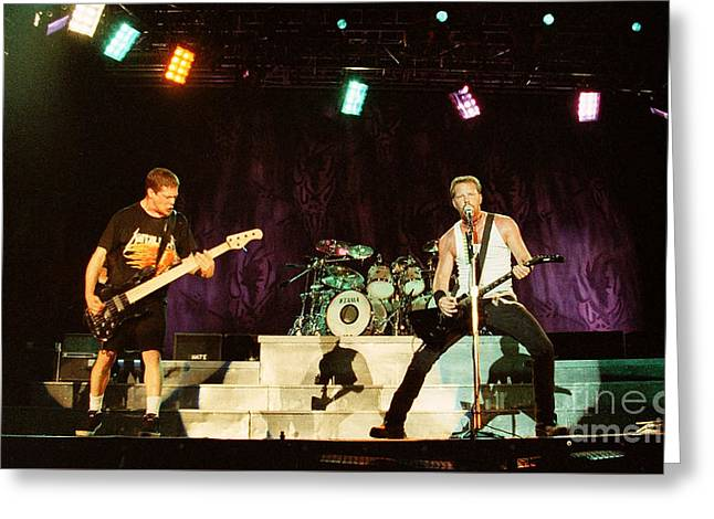 Metallica Greeting Cards - Metallica 96-Band-0262 Greeting Card by Timothy Bischoff