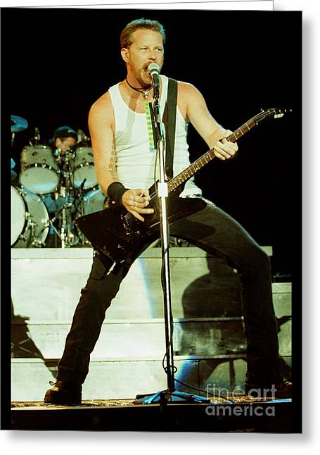Live Art Greeting Cards - Metallica 96-James-0235 Greeting Card by Timothy Bischoff