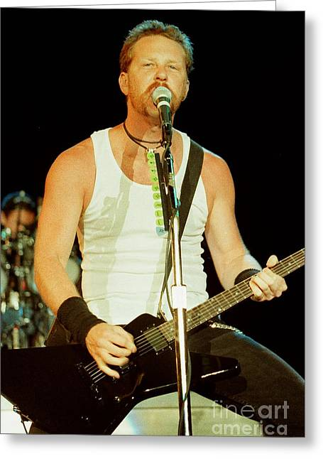 Metallica Greeting Cards - Metallica 96-James-0237 Greeting Card by Timothy Bischoff