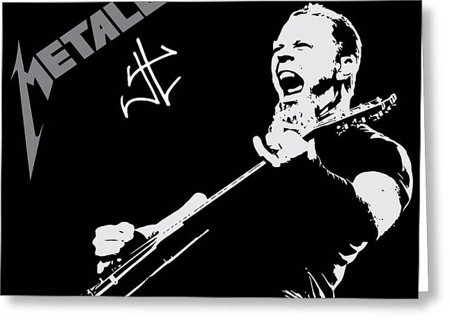 Famous Artist Greeting Cards - Metallica Greeting Card by Caio Caldas