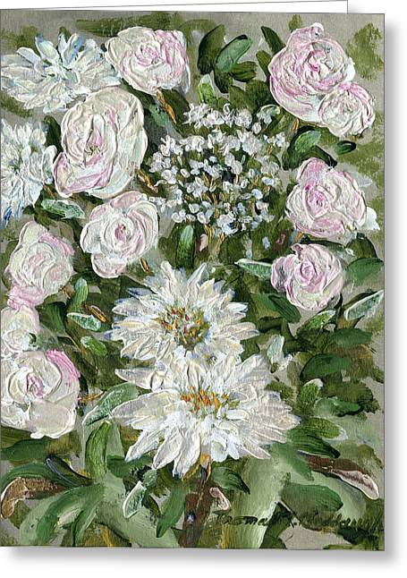 Metallica Greeting Cards - Metallica Roses and Mums Greeting Card by Thomas Michael Meddaugh