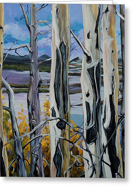 Canadian Foothills Landscape Greeting Cards - Metamorphi Greeting Card by Heather Pant