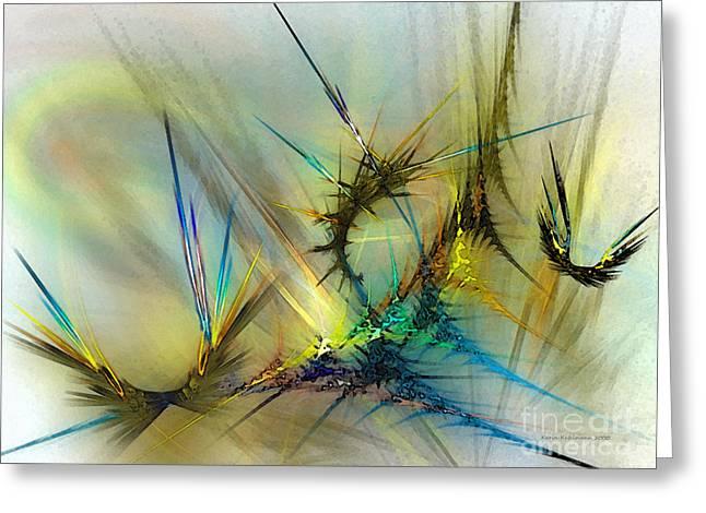 Metamorphosis Greeting Card by Karin Kuhlmann