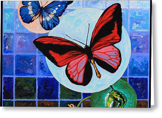 Metamorphosis of the New Life Greeting Card by John Lautermilch