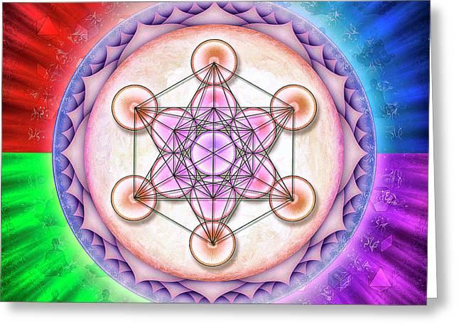 Metatron's Cube - Artwork Sun No. 2 Greeting Card by Dirk Czarnota