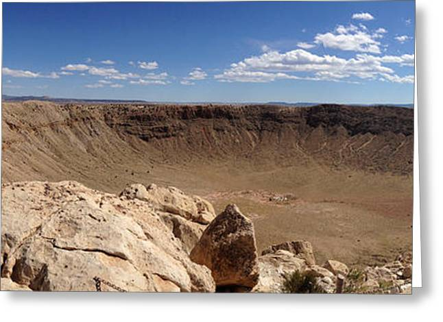 Historical Pictures Greeting Cards - Meteor Crater Greeting Card by Richard Gehlbach