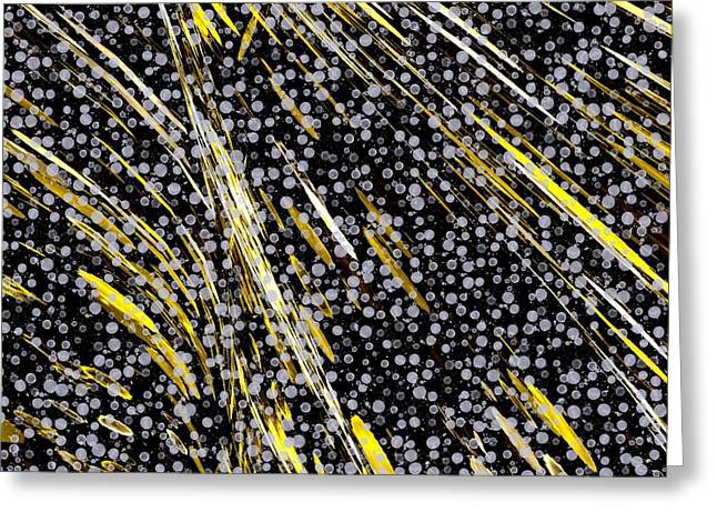 Abstract Digital Tapestries - Textiles Greeting Cards - Meteor Shower Greeting Card by Suzi Freeman