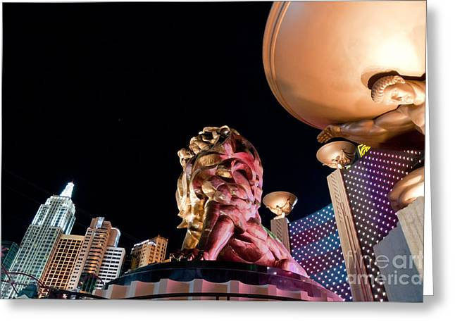 Mgm Greeting Cards - Metro at Night Greeting Card by Andy Smy