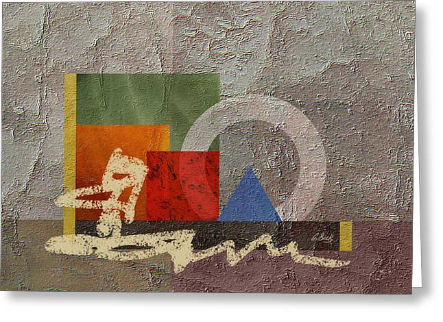 Modern Paintings Greeting Cards - Metro Greeting Card by Gordon Beck