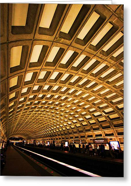 Metro Station Greeting Card by Mitch Cat