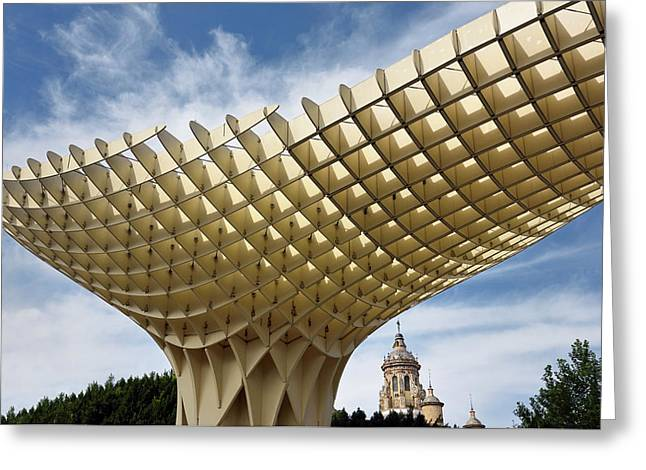 Metropol Parasol At The Plaza Of The Incarnation In Seville Spai Greeting Card by Reimar Gaertner