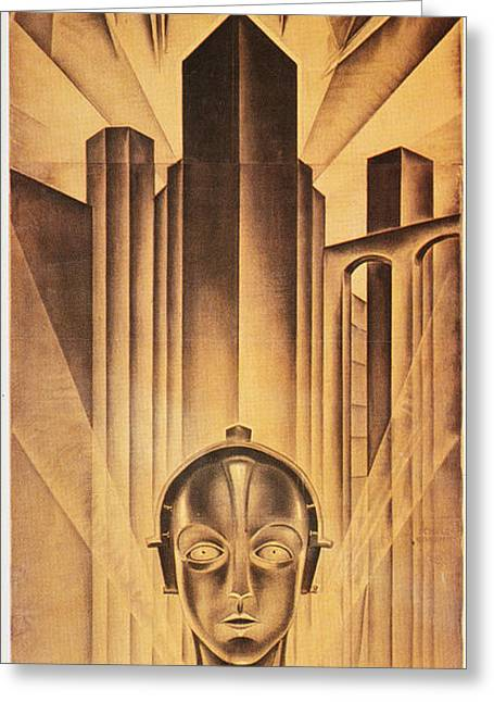 Silent Film Greeting Cards - Metropolis Poster, 1926 Greeting Card by Granger