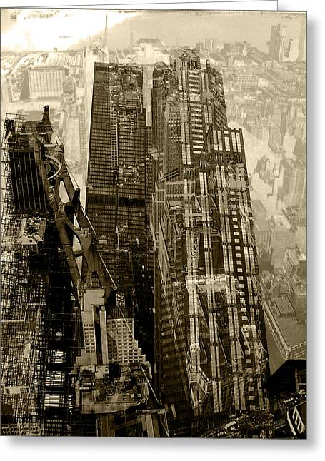 Brown Toned Art Greeting Cards - Metropolis V Greeting Card by David Studwell