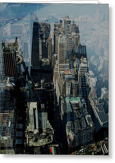 Glass.blue Greeting Cards - Metropolis VII Greeting Card by David Studwell