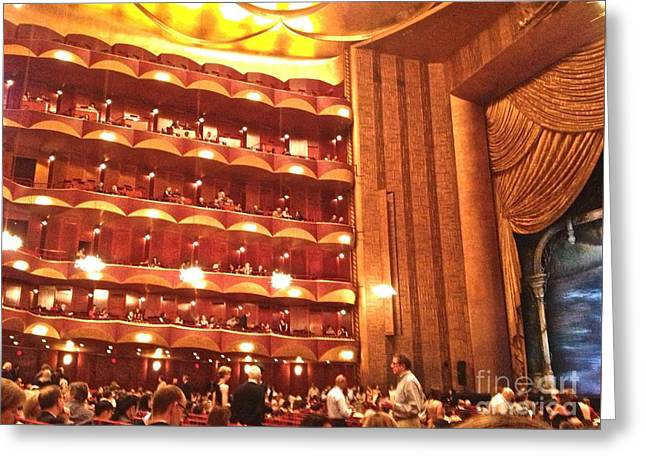 Theater Greeting Cards - Metropolitan Opera House Greeting Card by Hyoye S