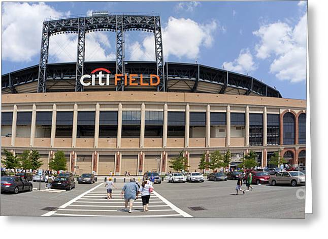 Shea Stadium Greeting Cards - Mets baseball stadium Citi Field in Queens - New York Greeting Card by Anthony Totah