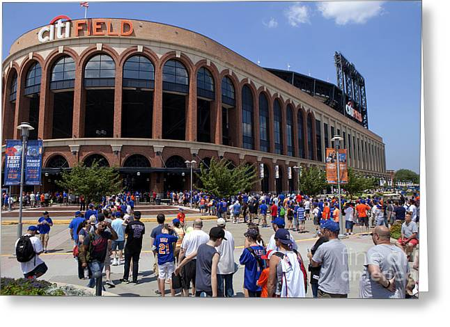 Shea Stadium Greeting Cards - Mets Stadium - Queens New York Greeting Card by Anthony Totah