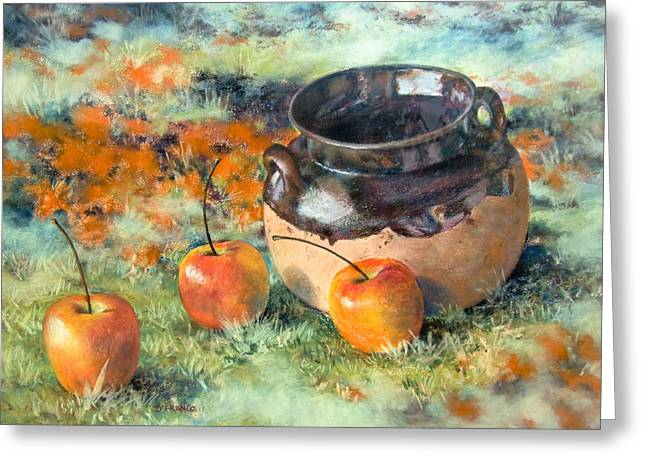 Mexican Apples Greeting Card by DEVARAJ DanielFranco