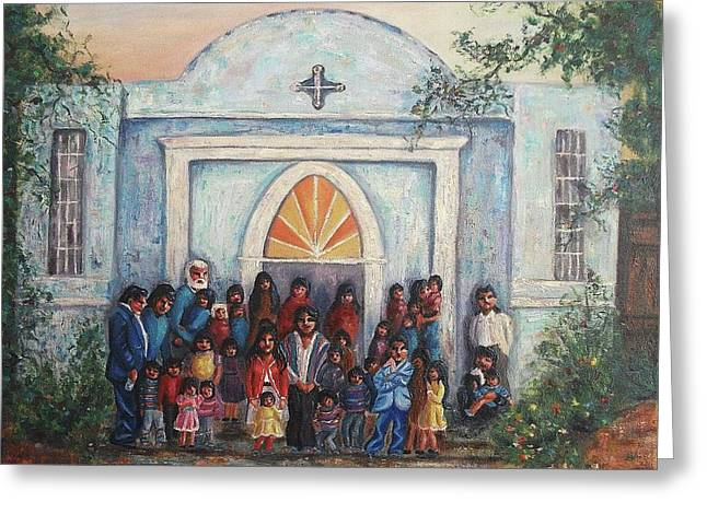 Mexican Church Greeting Card by Suzanne  Marie Leclair