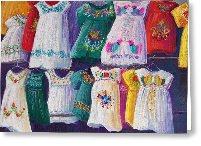 Folkloric Greeting Cards - Mexican Dresses Greeting Card by Candy Mayer