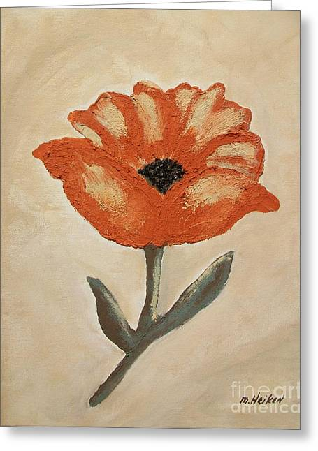 Texture Flower Greeting Cards - Mexican Flower Greeting Card by Marsha Heiken