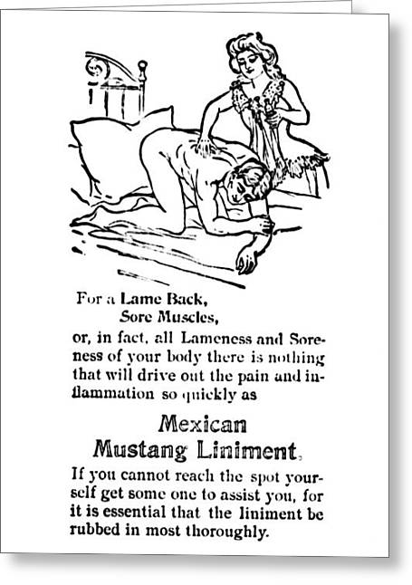 Liniment Greeting Cards - Mexican Mustang Liniment  1902 Greeting Card by Daniel Hagerman