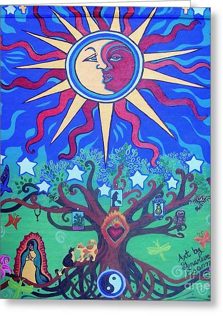Mexican Retablos Prayer Board Greeting Card by Genevieve Esson