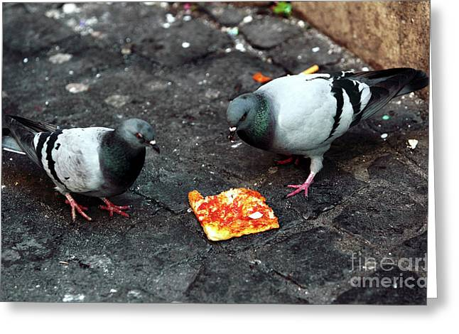 Pizza Places Greeting Cards - Mexican Standoff Greeting Card by John Rizzuto
