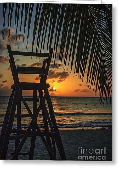 Mexican Sunset Greeting Card by Charles Dobbs