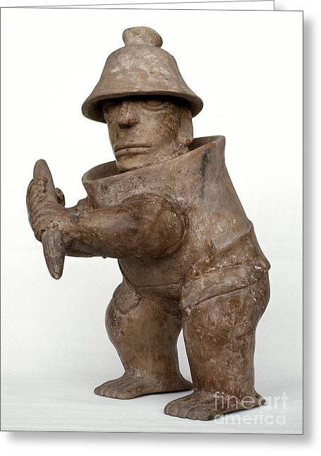 Primitive Sculpture Greeting Cards - Mexico: Ball Player Greeting Card by Granger