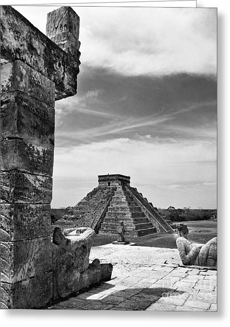 Native American Sculptures Photographs Greeting Cards - Mexico: Chichen Itza, Greeting Card by Granger