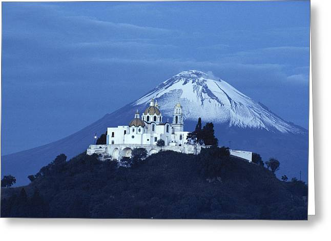 Mexico, Cholula, Catholic Church Greeting Card by Keenpress