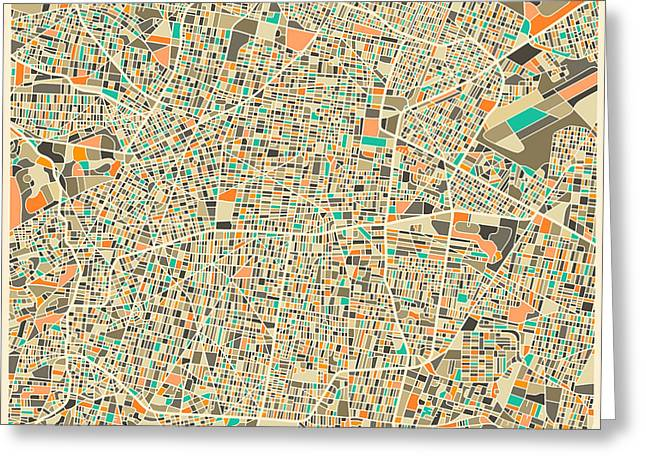 City Street Greeting Cards - Mexico City Greeting Card by Jazzberry Blue
