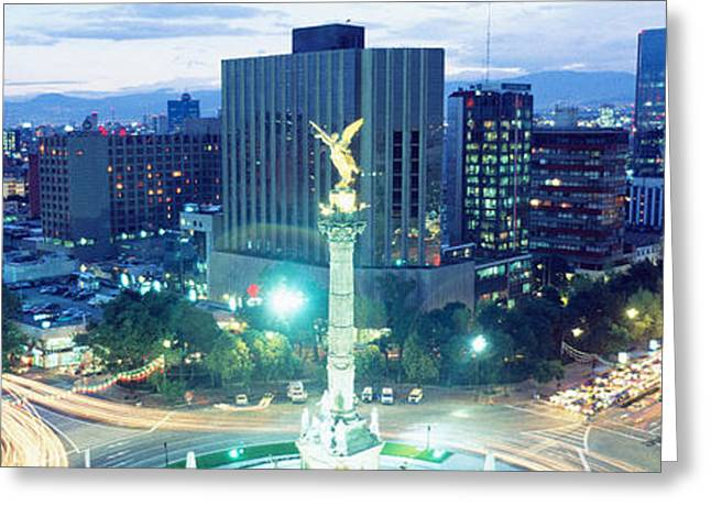 Mexico, Mexico City, El Angel Monument Greeting Card by Panoramic Images