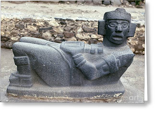 Primitive Sculpture Greeting Cards - Mexico: Toltec Altar Greeting Card by Granger