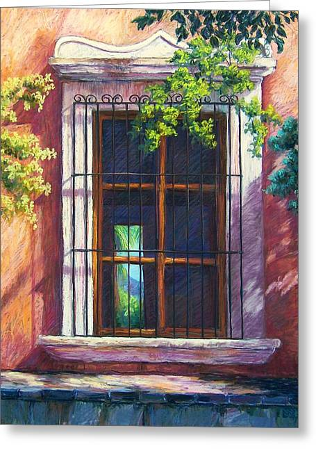 Window Pastels Greeting Cards - Mexico Window Greeting Card by Candy Mayer