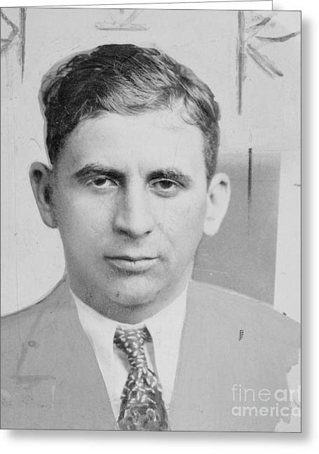 1930s Portraits Greeting Cards - Meyer Lansky (1902-1983) Greeting Card by Granger