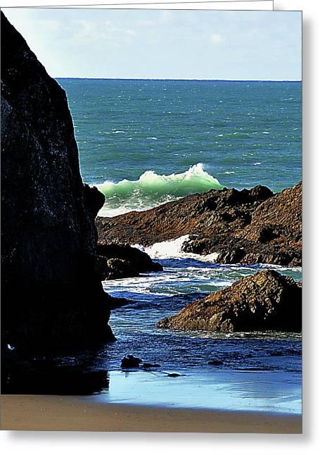 Meyers Creek Beach Oregon Greeting Cards - Meyers Creek wave Greeting Card by Jane Kerkorian