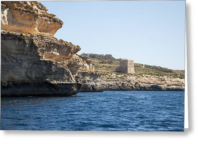 Slavery Greeting Cards - Mgarr ix-Xini Tower Greeting Card by Focus  Fotos