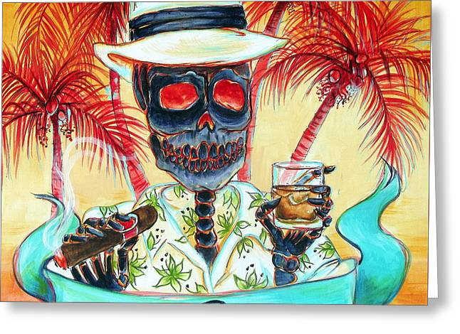 Mi Rum Greeting Card by Heather Calderon