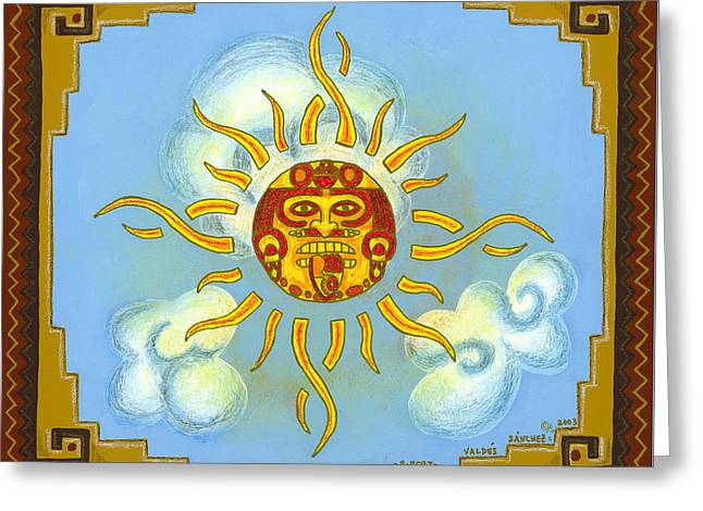 Mayan Mythology Greeting Cards - Mi Sol Greeting Card by Roberto Valdes Sanchez