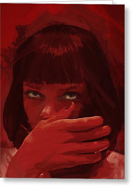Mia Wallace - Pulp Fiction Greeting Card by Afterdarkness
