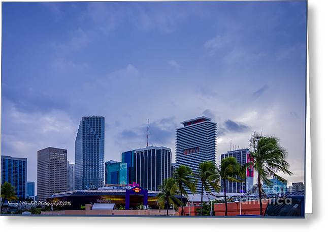 Hard Rock Cafe Building Greeting Cards - Miami Bayside 8 Greeting Card by Nancy L Marshall
