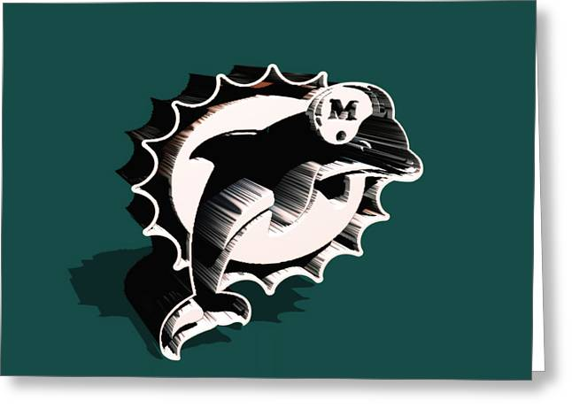 Jaguars Greeting Cards - Miami Dolphins 6a Greeting Card by Brian Reaves
