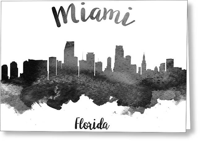 Miami Florida Skyline 18 Greeting Card by Aged Pixel